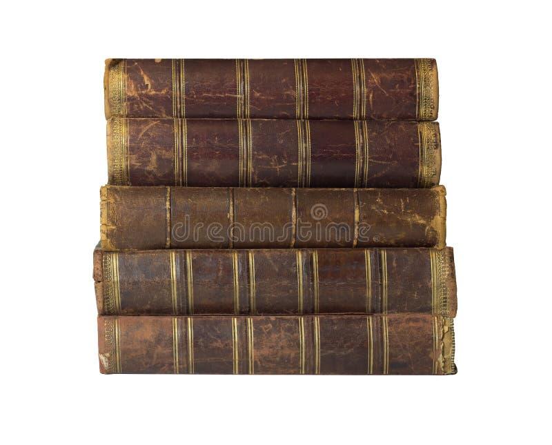 Antyk książki z rzemiennymi kręgosłupami obraz royalty free