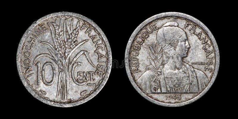Antyk moneta 10 centymów zdjęcia stock