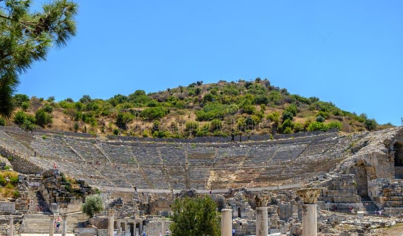 Antyk protestuje i struktury w Ephesus zakończeniu, Selcuk, Turcja obraz royalty free