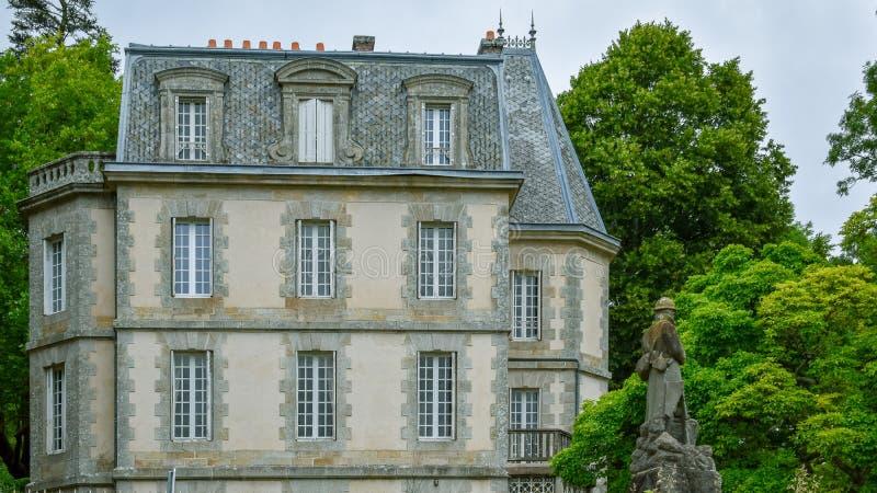 Antyka dom Francuski Brittany militarna statua i fotografia royalty free