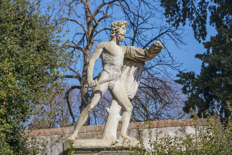Antyka parka rzeźba w Boboli ogródach, Florencja zdjęcia stock