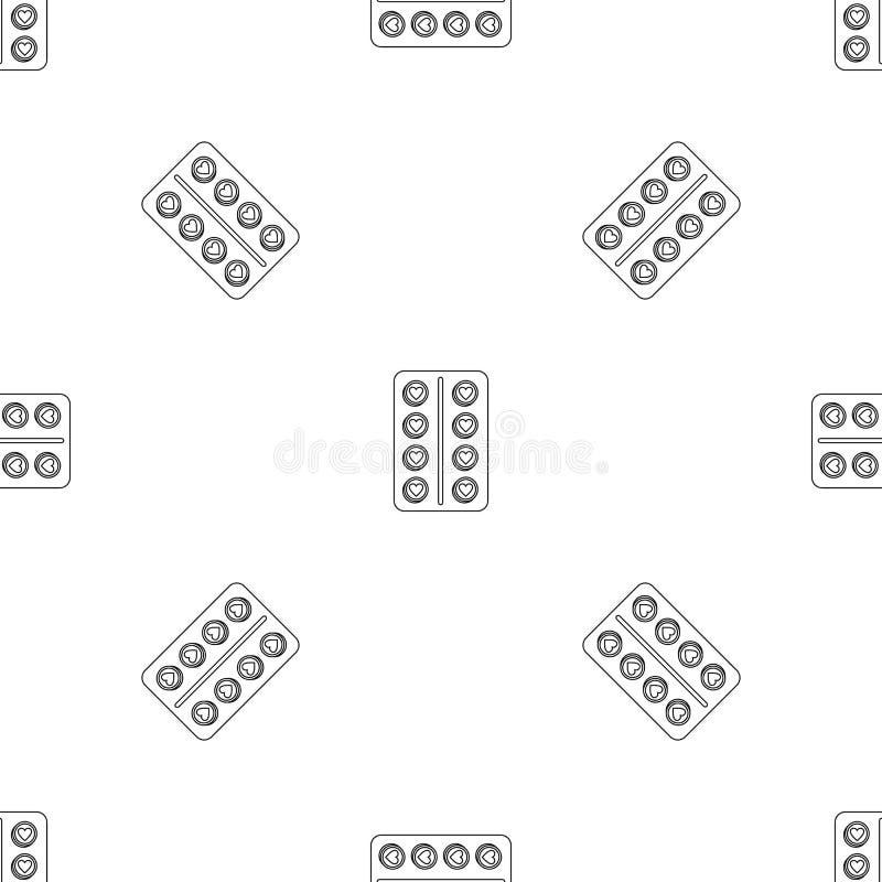 Antykoncepcji pigułki wzoru bezszwowy wektor royalty ilustracja
