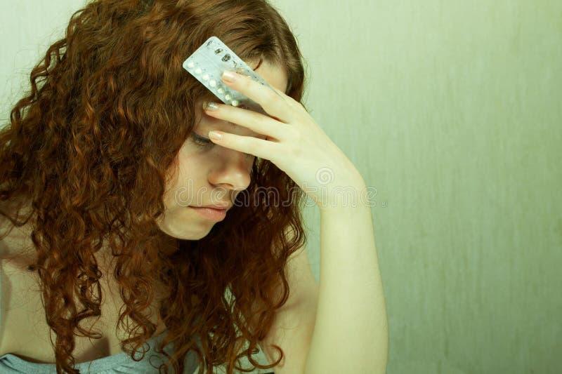 antykoncepcyjna dziewczyna obrazy stock