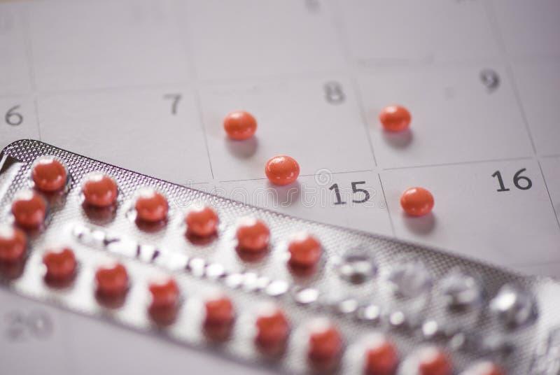 Antykoncepcyjna pigułka Zapobiega Ciążowego antykoncepcji pojęcie obrazy stock