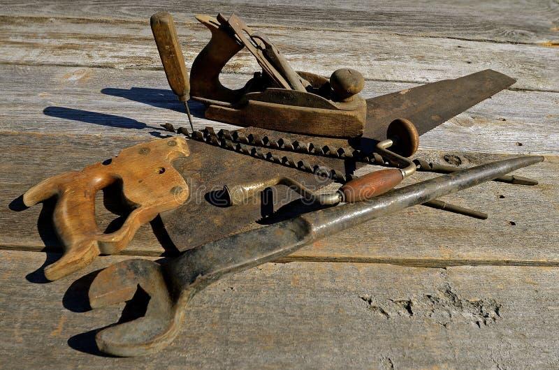 antykwarscy carpenter narzędzi zdjęcie royalty free