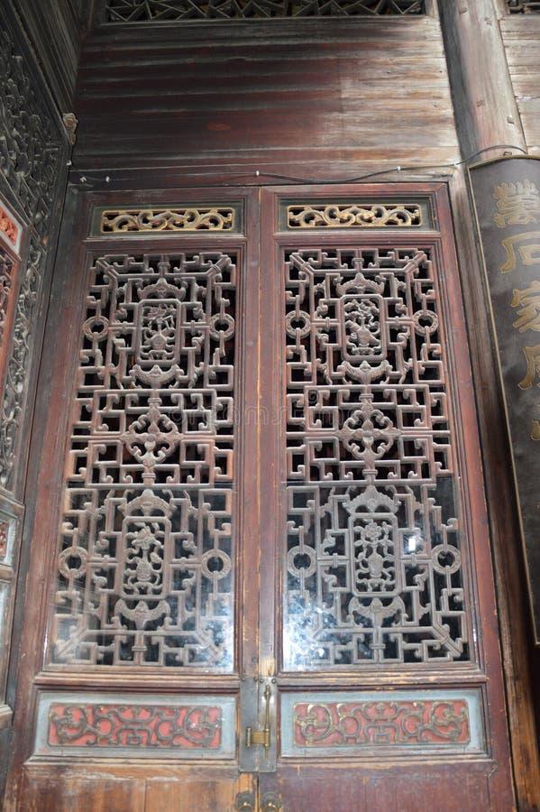 Antykwarscy Chińscy drzwi obraz royalty free