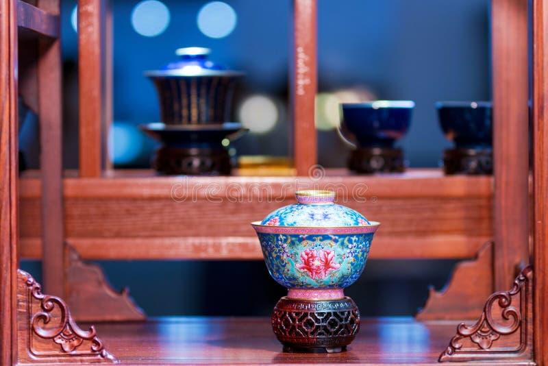 Antykwarscy herbaciani sety fotografia royalty free