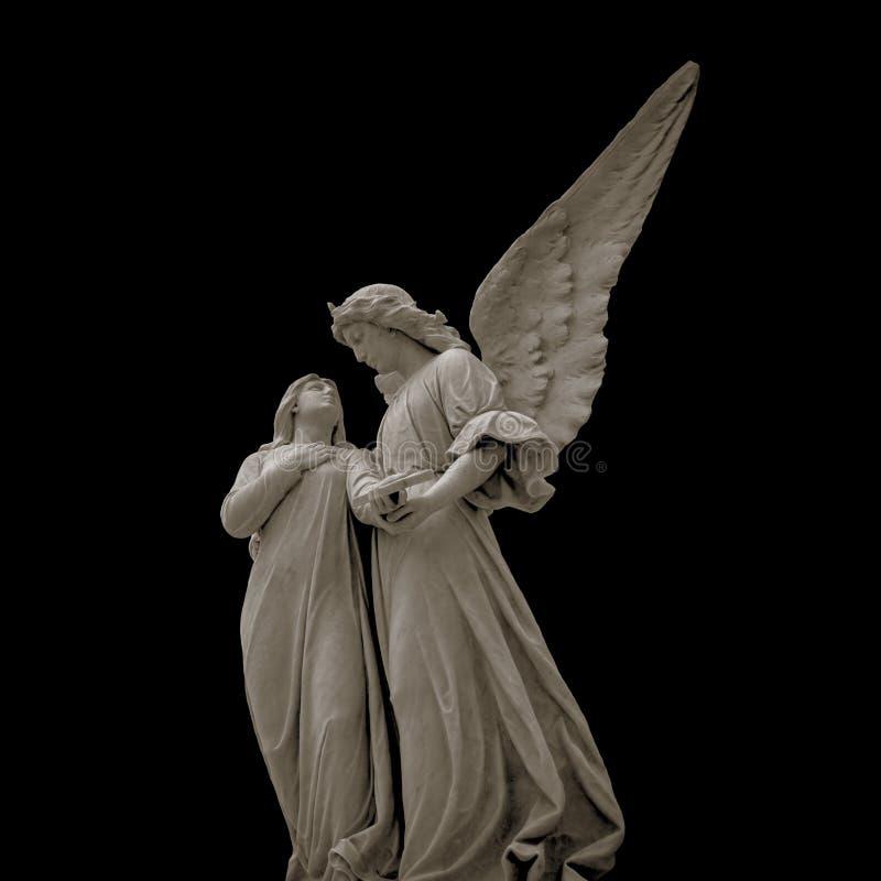 Antykwarska średniowieczna statua cmentarniany anioł obrazy stock