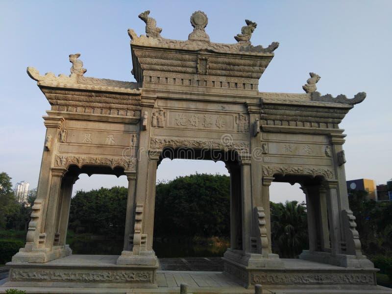 Antykwarska Chińska brama zdjęcia stock