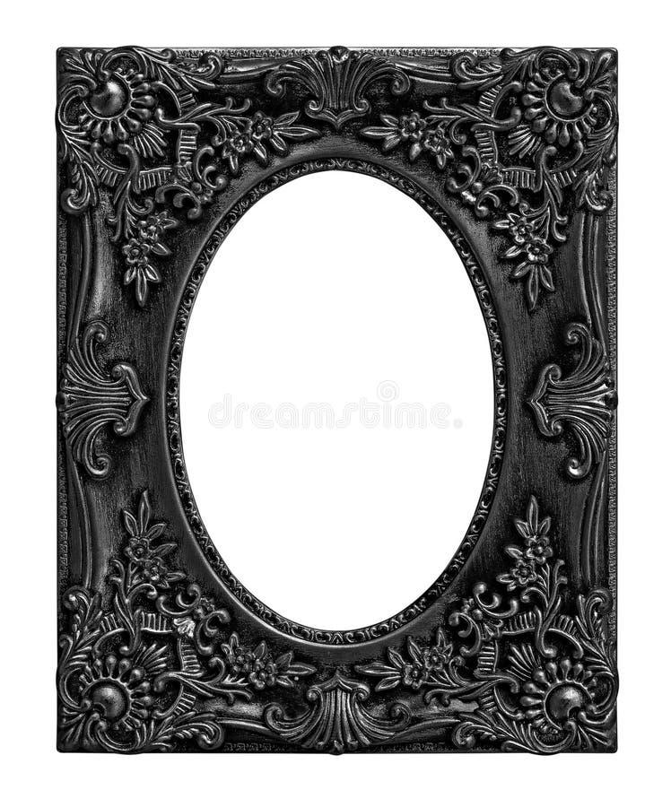 Antykwarska czerni rama na bielu zdjęcia royalty free