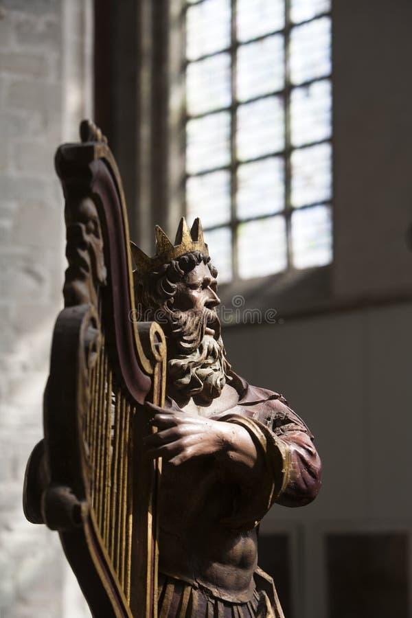Download Antykwarska Drewniana Rzeźba Królewiątko David Obraz Stock - Obraz złożonej z stary, wnętrze: 53782719