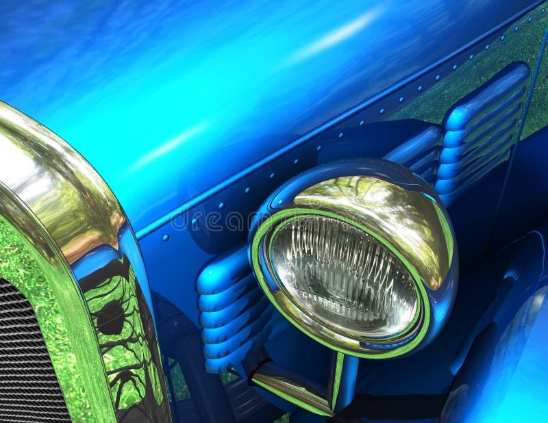 antykwarska fantazja się blisko samochodu ilustracja wektor