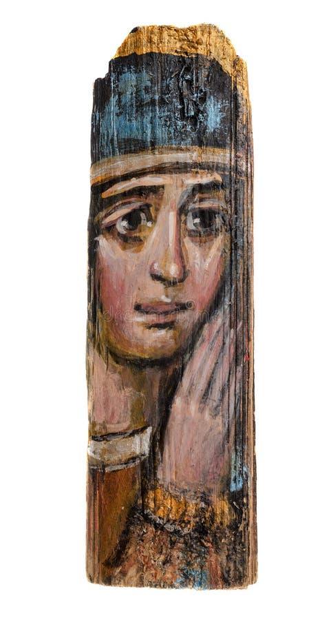 Antykwarska ikona maryja dziewica zdjęcie stock