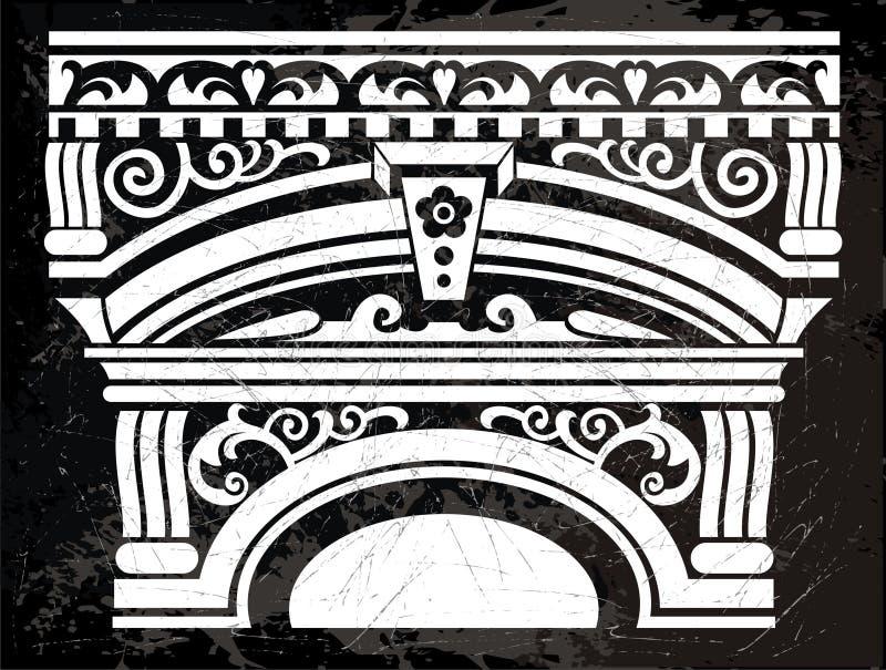 Download Antykwarska kolumna ilustracja wektor. Obraz złożonej z wzór - 23111255