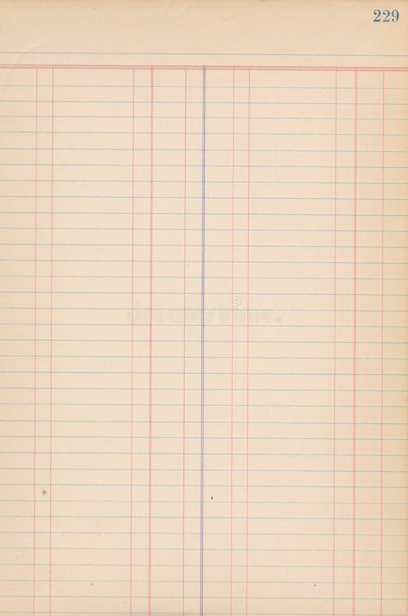Antykwarska księga główna papieru notatka zdjęcia stock