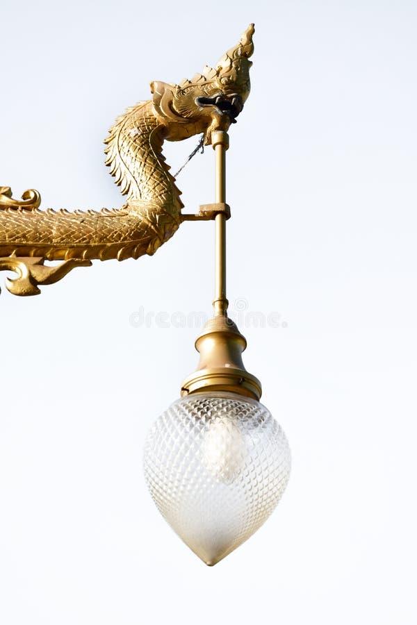 Antykwarska lampa dalej odizolowywa obraz stock