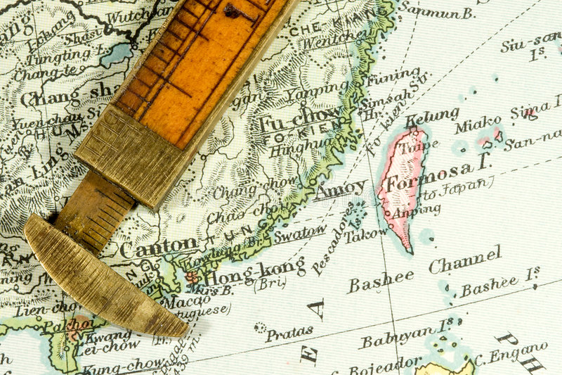 antykwarska mapa zdjęcia stock