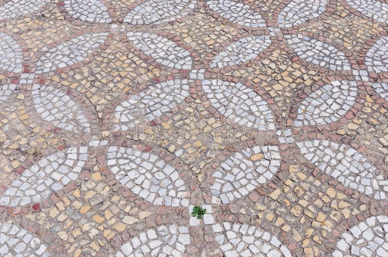 Antykwarska mozaiki podłoga obraz stock