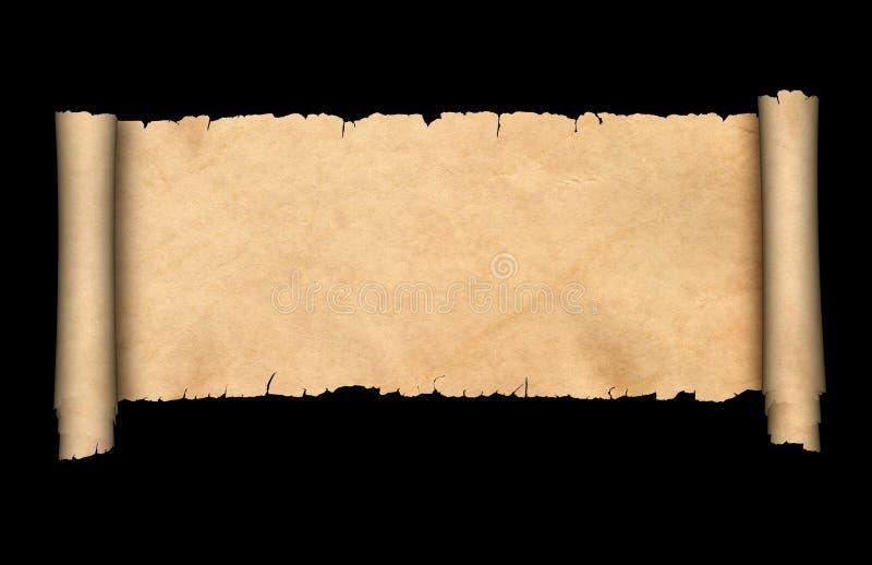 Antykwarska pergaminowa ślimacznica ilustracji
