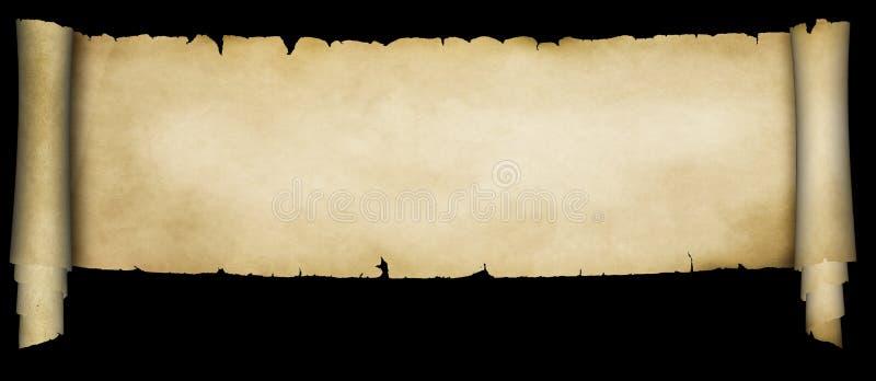 Antykwarska pergaminowa ślimacznica royalty ilustracja