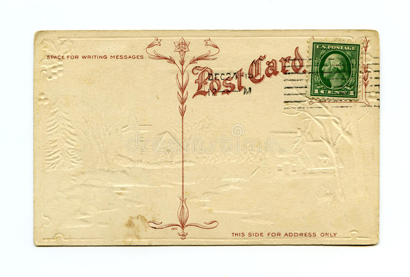 antykwarska pocztówka zdjęcia stock