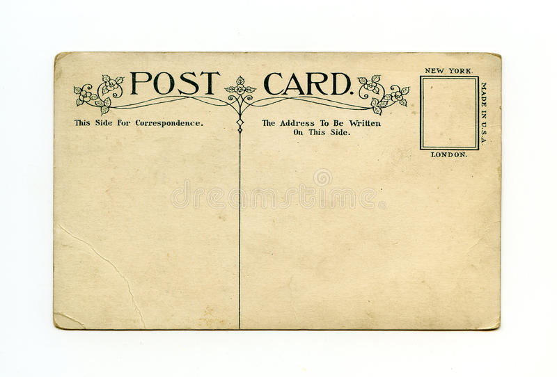 antykwarska pocztówka obrazy royalty free