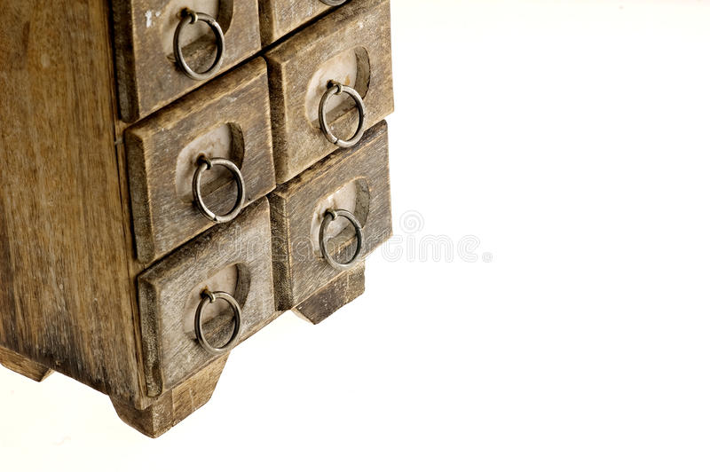 antykwarska podstawowego pudełka biżuteria fotografia stock
