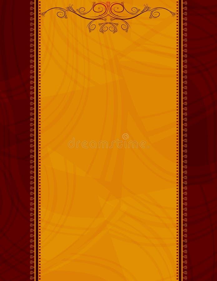 antykwarska pomarańczę tło royalty ilustracja
