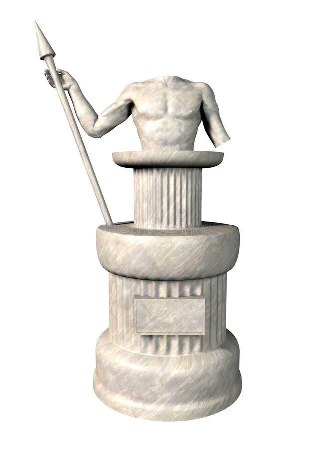 antykwarska posąg royalty ilustracja