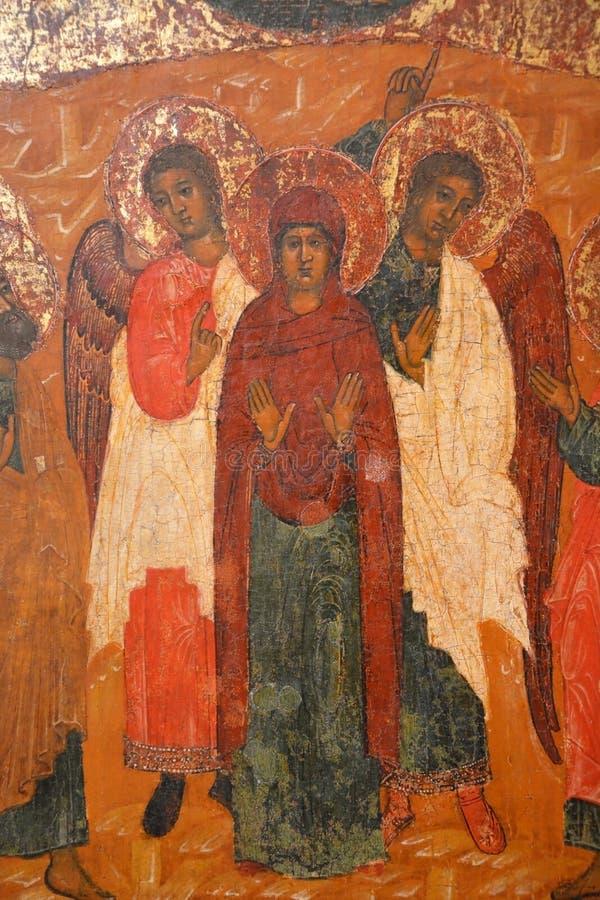 Antykwarska Prawosławna ikona obraz royalty free