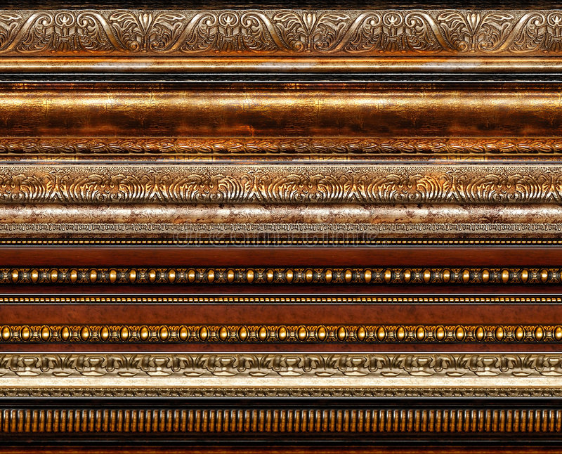 antykwarska rama dekoracyjna wzór wieśniaka obrazy royalty free