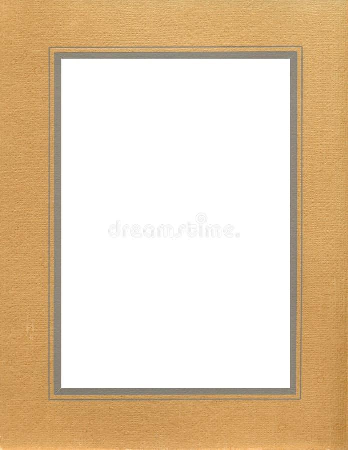 antykwarska rama textured brązowego obraz stock