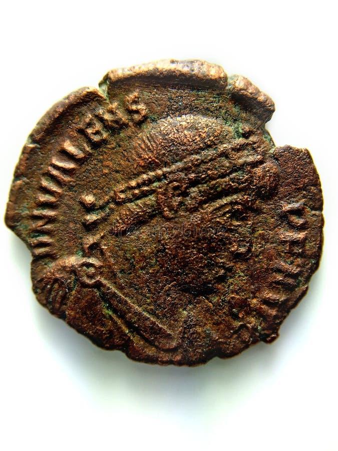 Antykwarska Romańska miedziana moneta zdjęcie stock