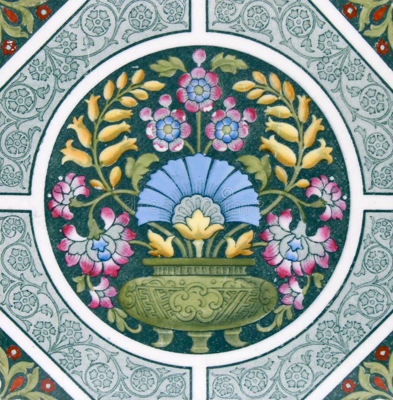 antykwarska sztuk rzemioseł płytka obraz royalty free