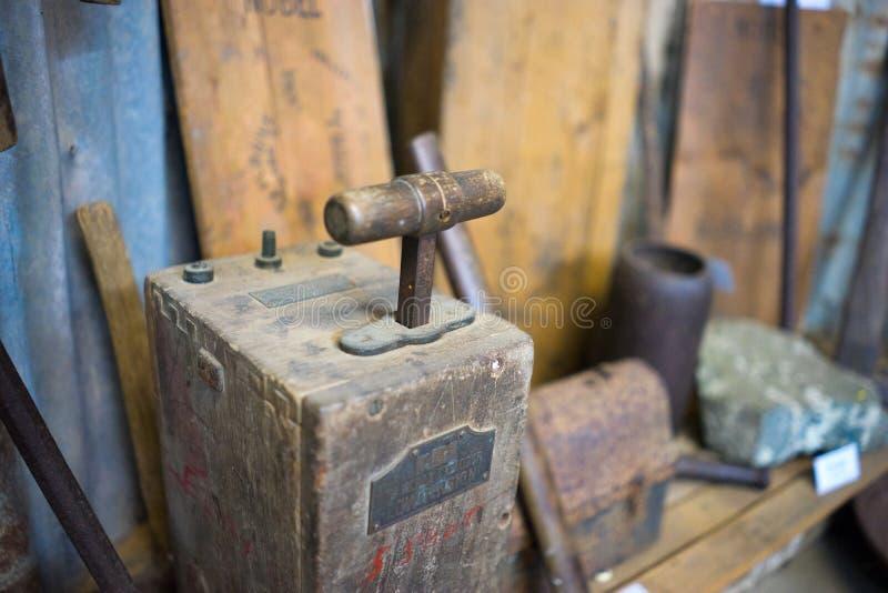 Antykwarska Wysadza maszyna fotografia stock