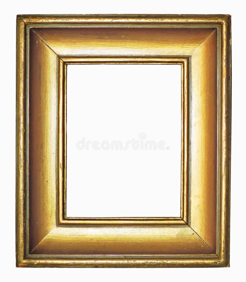 Antykwarska złota obrazek rama z kopii przestrzenią obraz royalty free