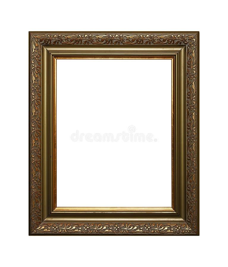 Antykwarska złota obrazka lub fotografii rama obraz royalty free