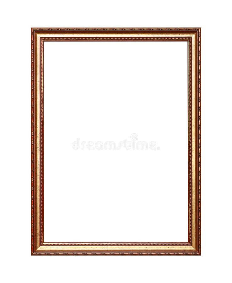 Antykwarska złota obrazka lub fotografii rama zdjęcia stock