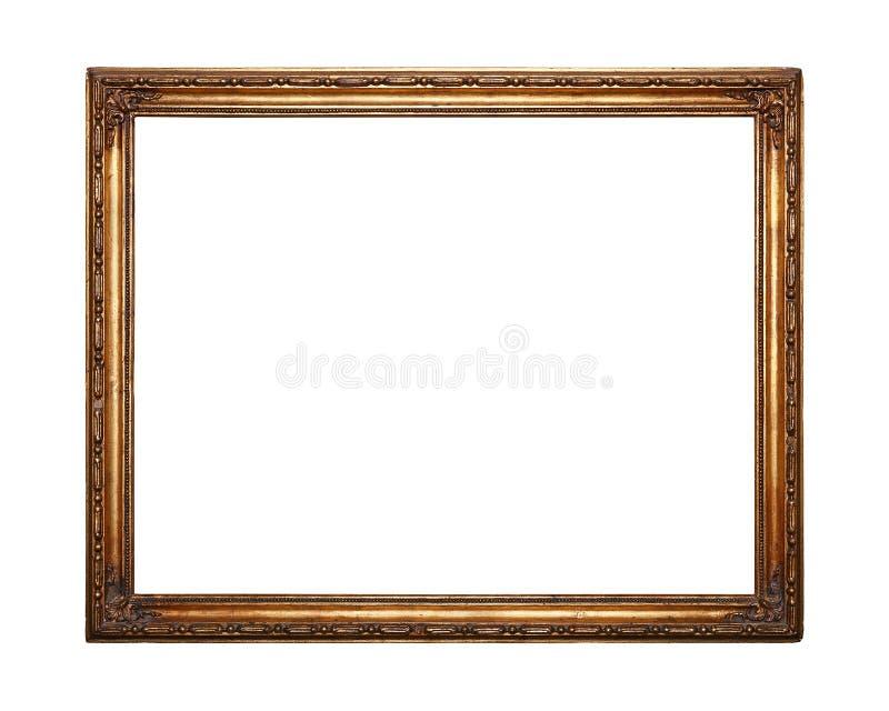 Antykwarska złota obrazka lub fotografii rama obrazy stock