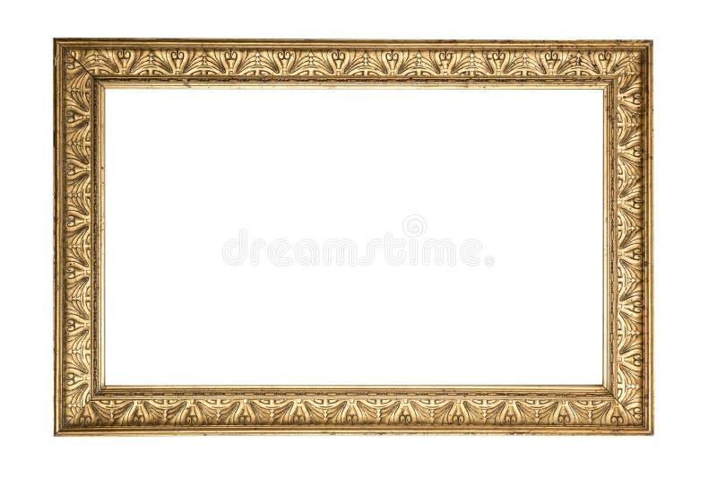 Antykwarska złota rama fotografia stock