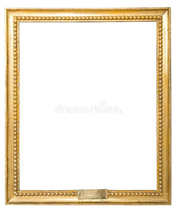 Antykwarska złota rama odizolowywająca na białym tle zdjęcia royalty free