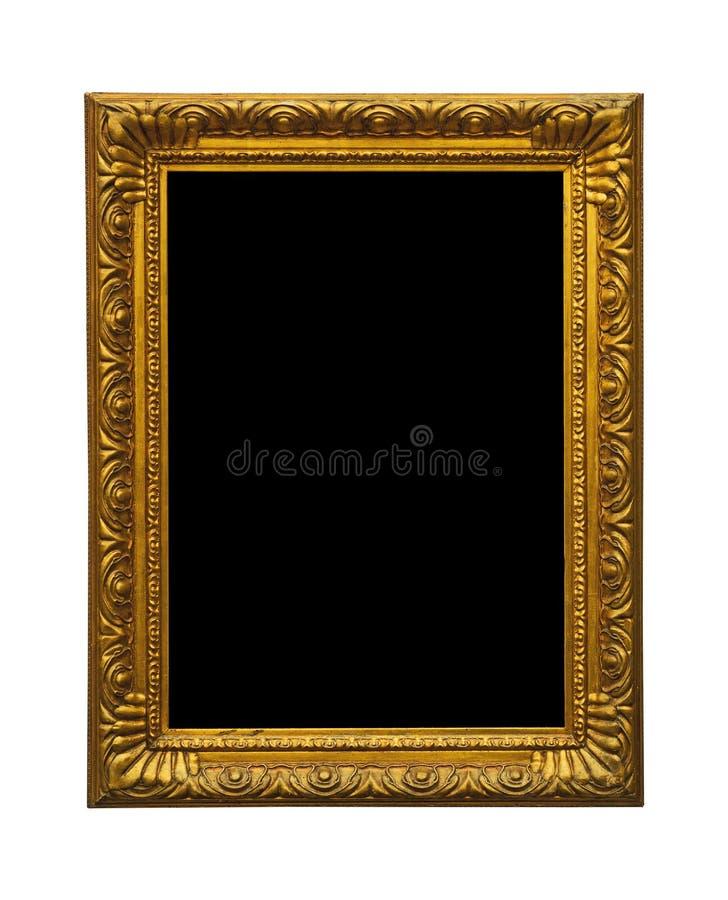 Antykwarska złota stara obrazek rama obraz stock