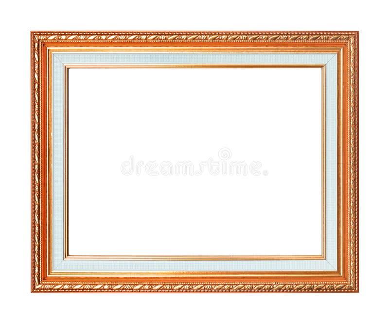 Antykwarska złoto rama na białym tle zdjęcia royalty free