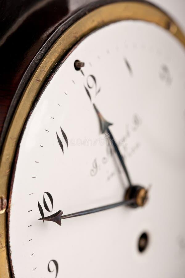 antykwarska zegaru zakończenia północ prawie zdjęcie stock