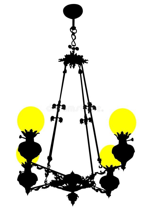 Antykwarski świecznik jeden ilustracji