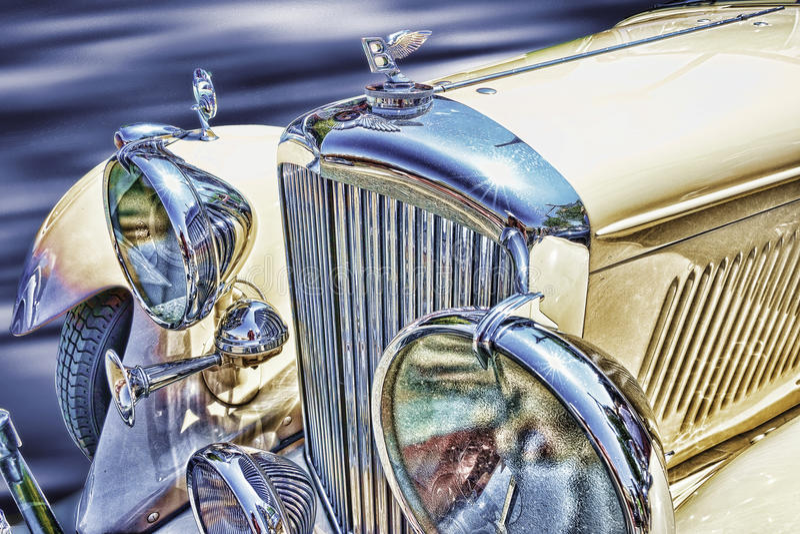 Antykwarski Bentley samochód fotografia royalty free