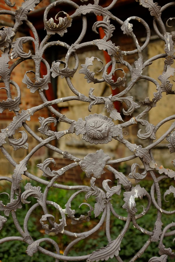 Antykwarski brama wystrój obrazy stock