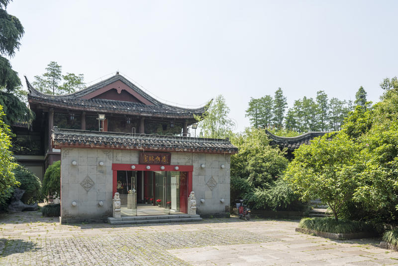 antykwarski budynek wzdłuż Qinghuai rzeki (restauracja) obrazy royalty free