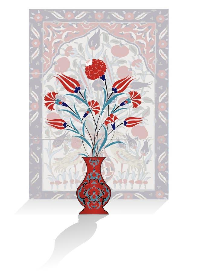 antykwarski bukieta projekta ottoman ilustracji