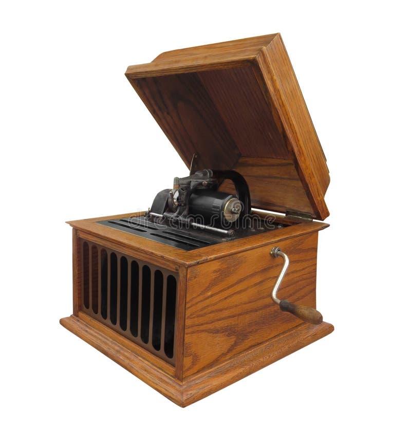 Antykwarski butla fonograf odizolowywający zdjęcia royalty free